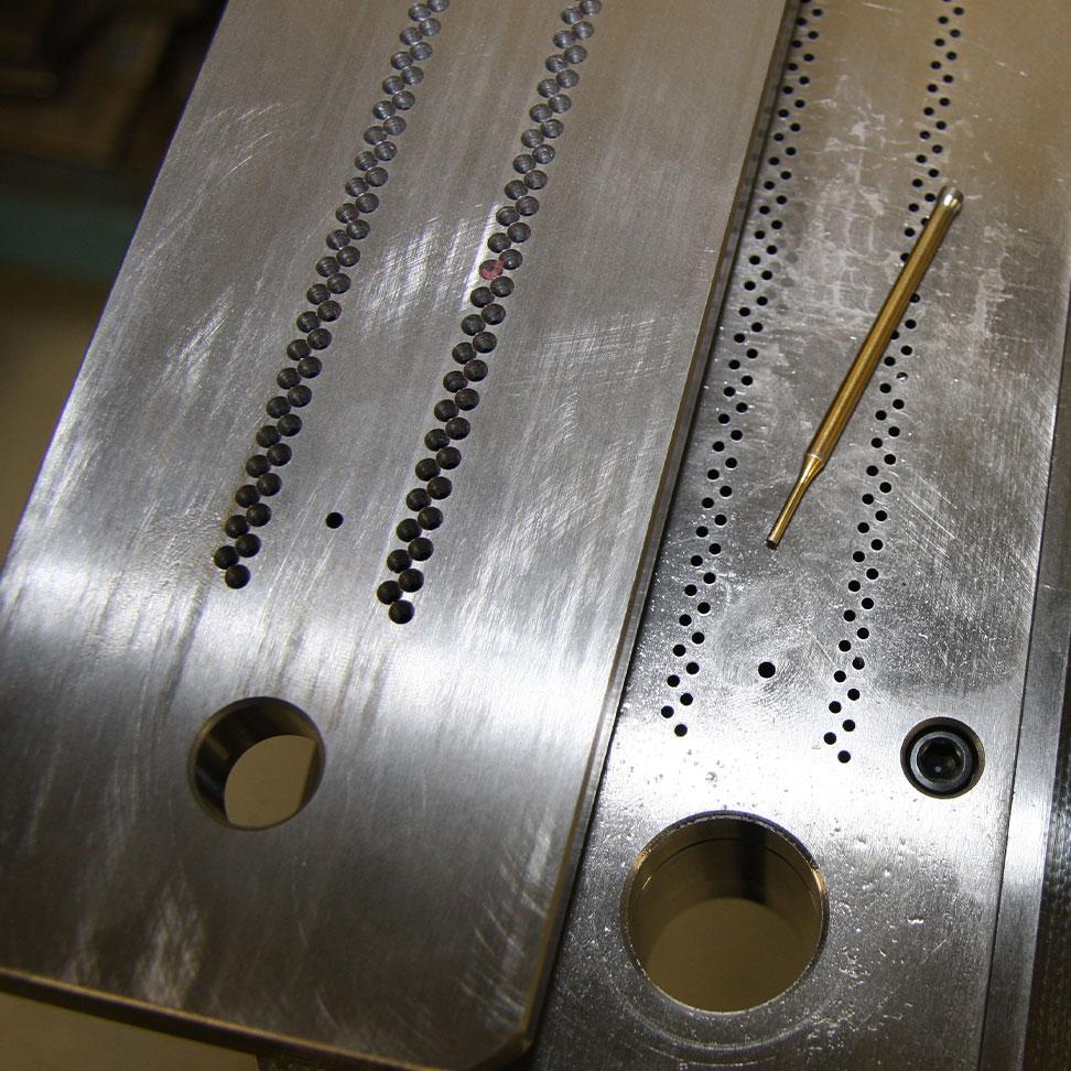 Custom die for steel perforation