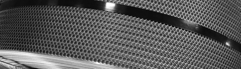 Perforated design in metal