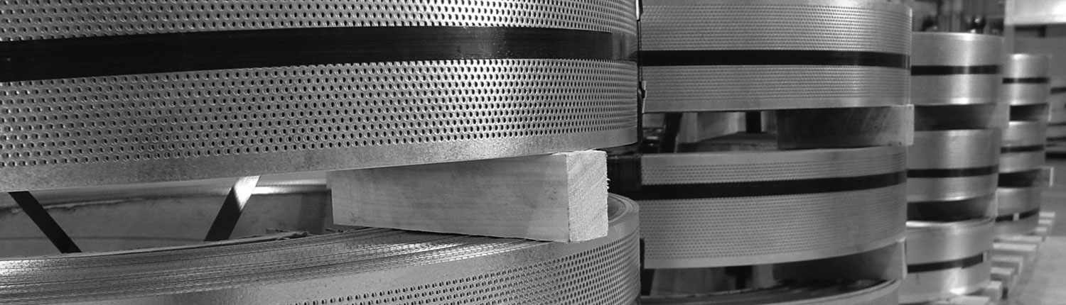 Roll of perforated steel