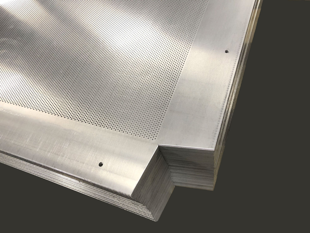 Perforated and notched metal